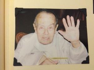 Granddad Jack with his broken wing.