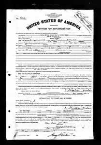 My grandfather's naturalization..